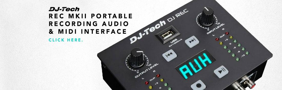 dj tech rec mkii portable recording audio & midi interface