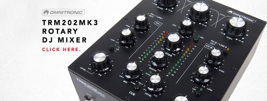 omnitronic trm202 mk3 rotary dj mixer