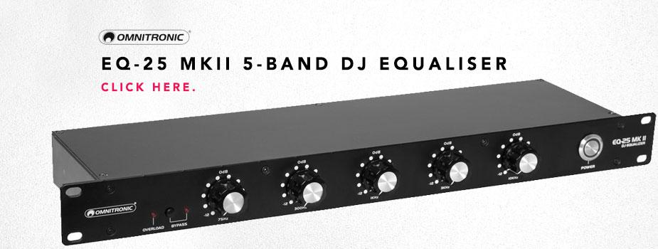 Omnitronic EQ-25 MKII 5-Band Stereo DJ Equaliser