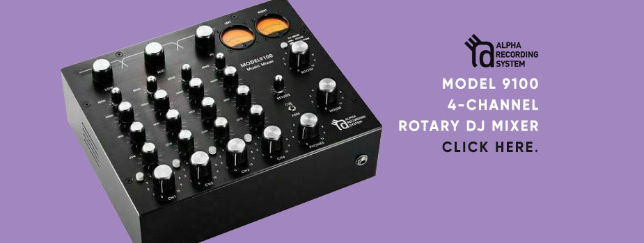 Alpha Recording System Model 9100 4-Channel Rotary DJ Mixer