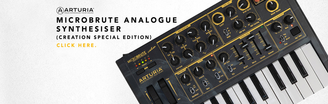 arturia microbrute analogue synthesiser (creation special edition version)