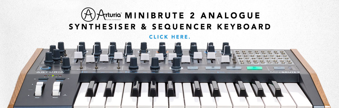 arturia minibrute 2 analogue synthesizer and sequencer keyboard