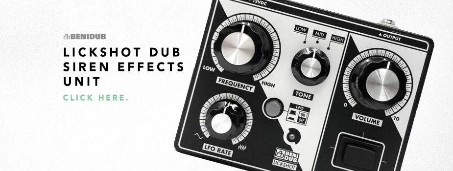 Benidub Lickshot Dub Siren Effects Unit
