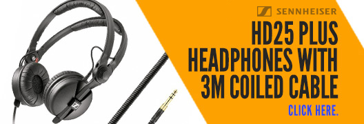 Sennheiser HD25 Plus Headphones With 3m Coiled Cable